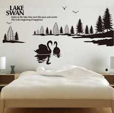 Beautiful Wall Stickers For Room Interior Design Online Shop Black Swan Lake Beautiful Wall Stickers Home Decor