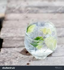 vodka tonic lemon gin tonic glass ice lime slice stock photo 204243736 shutterstock