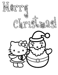 kitty snowman christmas coloring u0026 coloring pages