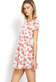 forever 21 darling cutout floral dress in pink lyst