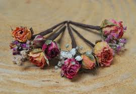 flower hair pins real flower hair wires floral wires hair pins hair wires