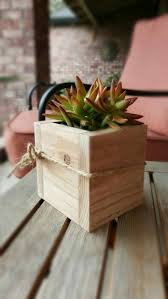 redwood succulent planter box flower box garden box home decor