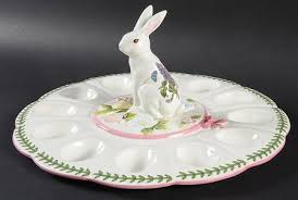glass deviled egg plate portmeirion botanic garden terrace at replacements ltd