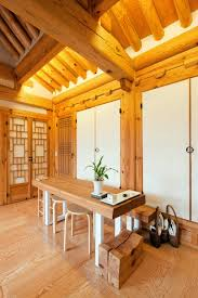 wood interior homes traditional korean hanoks with modern makeovers nonagon style