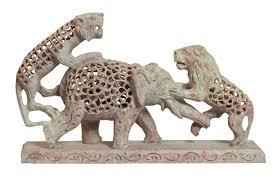 wholesale lion u0026 elephant figurine sculpture bulk buy 9 4 u201d hand