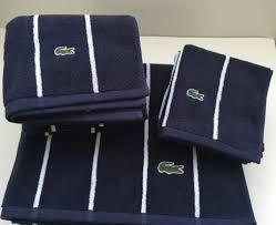 Lacoste Bathroom Set New Lacoste Sport Stripe Bath Towels 6pc Set Bath Hand Wash Cloth