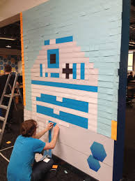 Star Wars Office Co Workers Use Post Its To Turn Boring Office Walls Into Awesome