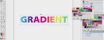 tutorial illustrator gradient applying a gradient to editable type in illustrator layers magazine