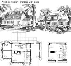 gambrel house plans charming gambrel colonial in two versions 81136w architectural