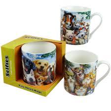 Animal Mug Selfie Mug 3 Designs Cats Dogs Farmyard Animals Horses Cows Pigs