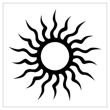 tattoes designs sun tribal design