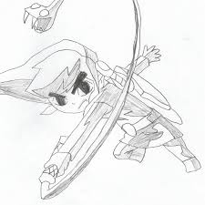 toon link sketch by gothicsnowflake on deviantart