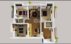 3 bedroom apartment floor plans 3d