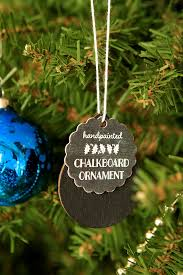 gift diy chalkboard ornaments gift favor ideas from