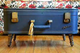 vintage trunk coffee table make your own vintage suitcase coffee table