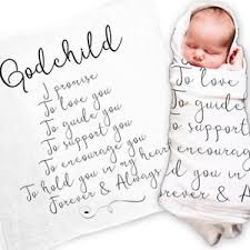 christening gift godchild gift quote baby swaddle blanket christening gift