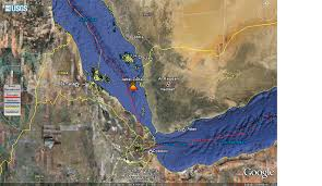 The Red Sea Map 79 Jebel Zubair Volcano Erupts In The Red Sea The Extinction