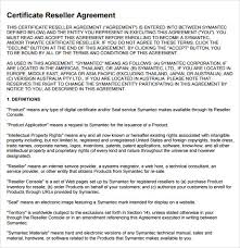 reseller contract template sle reseller agreement template