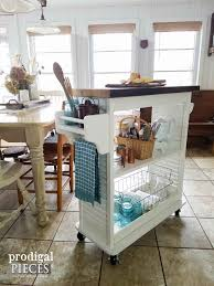Turquoise Kitchen Island by Kitchen Island Cart From Repurposed Materials Prodigal Pieces