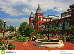 Washington Dc Attractions Map Smithsonian Castle Landmark In Washington Dc Usa Editorial Stock