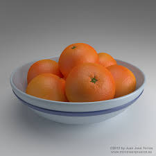 fruit bowl a procedural orange skin study by juanjosetorres on