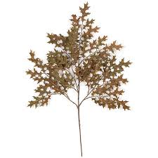 27 inch artificial brown pin oak branch set of 12 p 462b