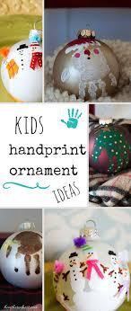 handprint ornament and diy ornament ideas