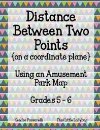 distance between two points map distance between two points an amusement park map by
