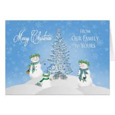 snowman family greeting cards zazzle