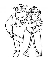 ogre triplets the kids of fiona and shrek coloring pages cartoon