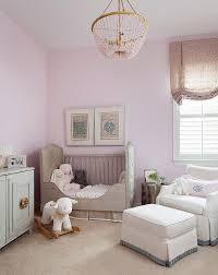 lavender nursery with gray french crib transitional nursery