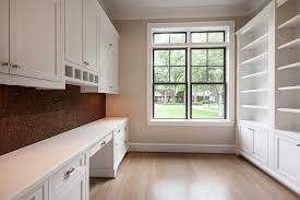 Home Office With Cork Pin Board Backsplash Transitional Den - Backsplash board