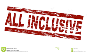 all inclusive royalty free stock photos image 13428388