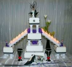square formal wedding cake with stairs cakecentral com