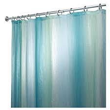 interdesign ombre print shower curtain blue green