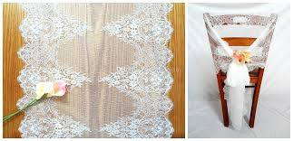 2018 55 300cm jacquard lace wedding chair sashes back covers bows