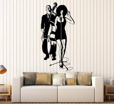 wall vinyl decal jazz band black singer music bar home