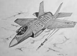 How To Draw A F 35 Lightning Ii Youtube