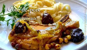 cuisiner cote de porc côte de porc aux pruneaux petits plats entre amis