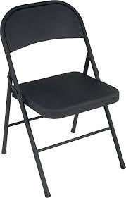 amazon com cosco all steel 4 pack folding chair black kitchen