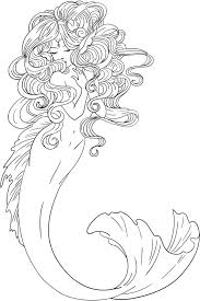 mermaid training a seahorse coloring page coloring pages
