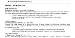Automotive Resume Examples by Automotive Technician Career Traits Automotive Technician Resume