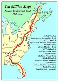 appalachian mountains on map odyssey 1998 ten million eastern continental trail