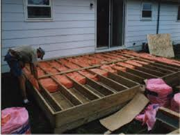 Wood Patio Deck Designs Converting The Deck To Insulated Floor Floor Insulation
