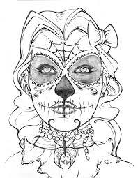 free sugar skull fantasy women coloring pages coloring