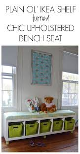 Upholstered Bench Ikea Best 25 Kallax Window Seat Ideas On Pinterest Kids Storage