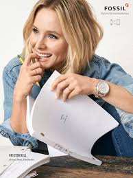 Kristen Bell by Bell Fossil Ad 2017