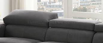 Gray Fabric Sectional Sofa Sectional Sofa 53720 In Gray Fabric By Acme W Option