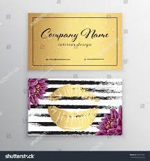 makeup artist business card business cards stock vector 628377362