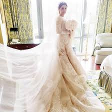 elie saab wedding dresses sahar sanjar s elie saab wedding dress popsugar fashion
